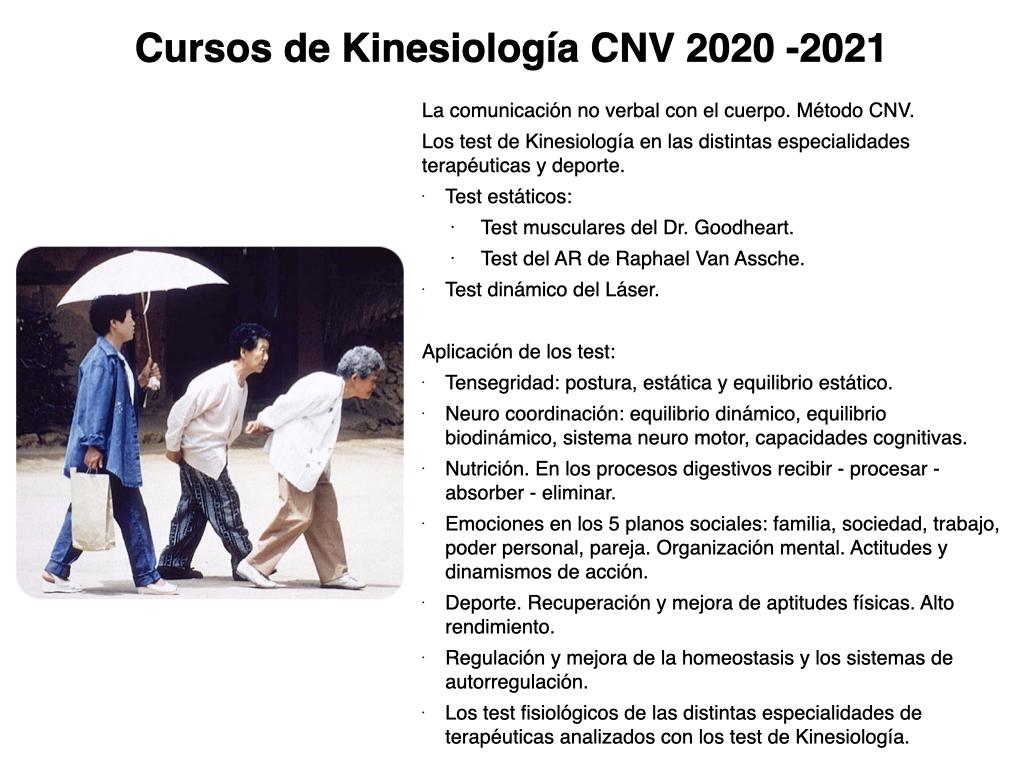 Cursos de Kinesiología CNV online 2020 - 2021